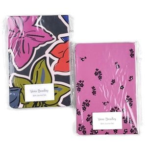 Vera Bradley Slim Journal Set 4 Pc Notebook Diary